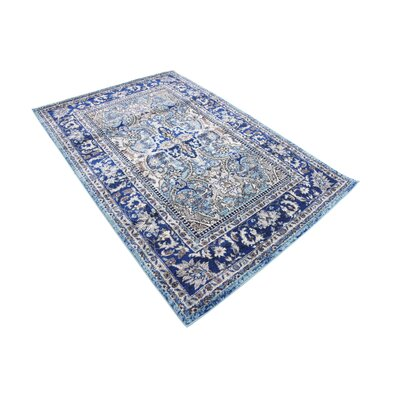 Tatham Blue Area Rug Rug Size: Rectangle 4 x 6