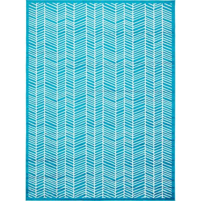 Maryrose Turquoise Area Rug Rug Size: 9 x 12