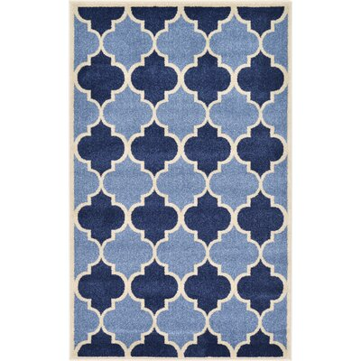 Emjay Light Blue Area Rug Rug Size: Rectangle 33 x 53