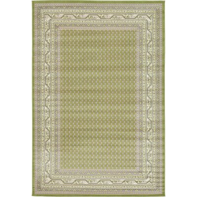 Gillam Geometric Green Area Rug Rug Size: Rectangle 6 x 9