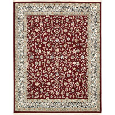 Jackson Burgundy Area Rug Rug Size: Rectangle 10 x 13