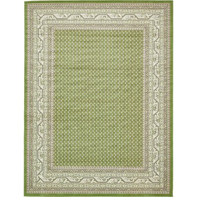 Toni Geometric Green Area Rug Rug Size: Rectangle 9 x 12