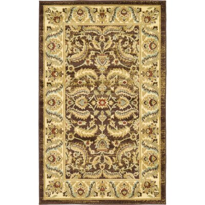 Niles Oriental Brown Area Rug Rug Size: Rectangle 3'3
