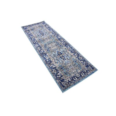 Tatham Blue Area Rug Rug Size: Rectangle 27 x 10