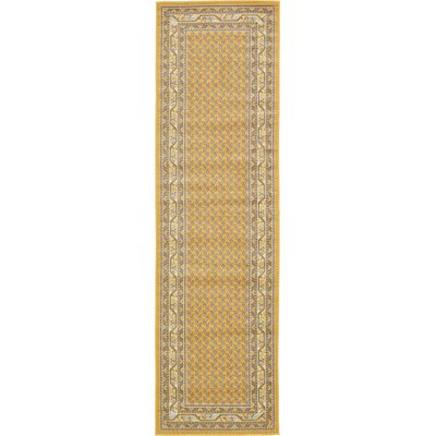 Toni Yellow Area Rug Rug Size: Runner 29 x 910