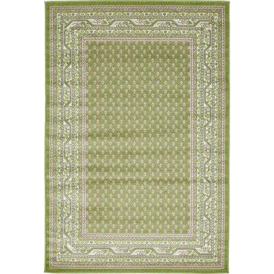 Toni Geometric Green Area Rug Rug Size: 4 x 6