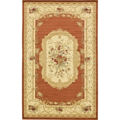 Oskar Brick Red Area Rug Rug Size: 106 x 165