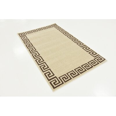Champney Beige Area Rug Rug Size: 3 x 5