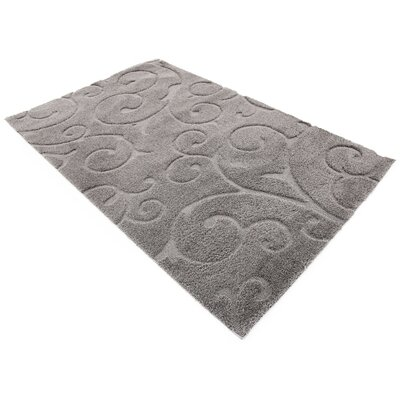 Scheffer Floral Dark Gray Area Rug Rug Size: Rectangle 5 x 8
