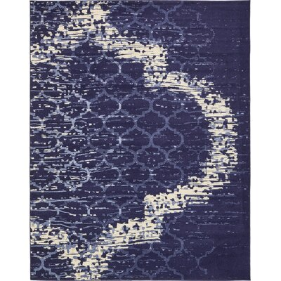 Steinbeck Navy Blue Area Rug Rug Size: 8 x 10