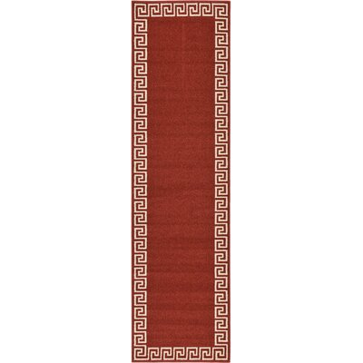 Padstow Terracotta Area Rug Rug Size: Runner 27 x 10