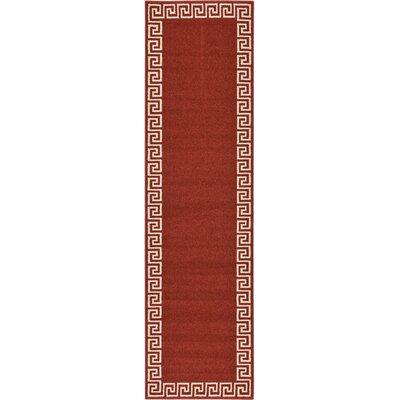Cendrillon Terracotta Area Rug Rug Size: Runner 27 x 10