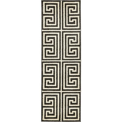 Ellery Black/Beige Area Rug Rug Size: Runner 2' x 6'