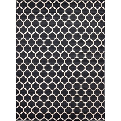 Moore Black Area Rug Rug Size: Rectangle 13 x 18