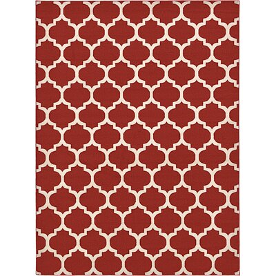 Moore Red Area Rug Rug Size: 8 x 11