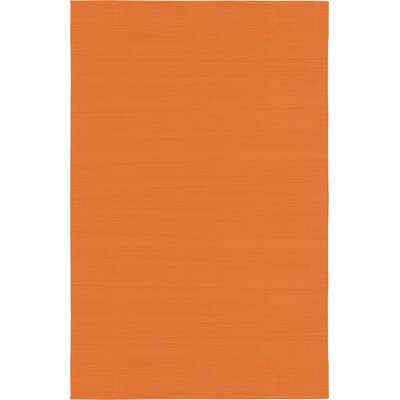 Risley Orange Area Rug Rug Size: 5 x 8