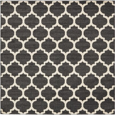 Moore Black Area Rug Rug Size: Square 8