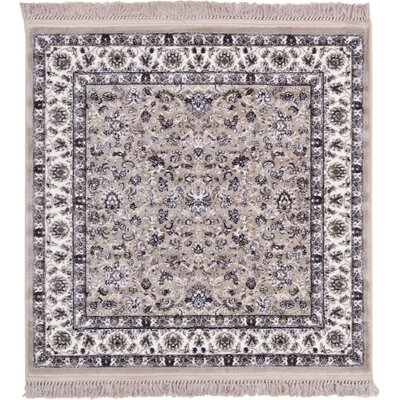 Essehoul Taupe Area Rug Rug Size: Square 4
