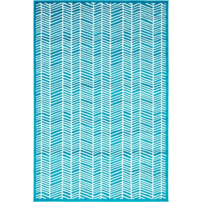 Maryrose Turquoise Area Rug Rug Size: Runner 2 x 13