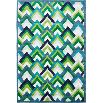 Sidney Blue Area Rug Rug Size: Rectangle 4 x 6