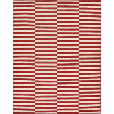 Braxton Red Area Rug Rug Size: 9 x 12