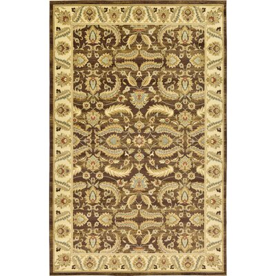 Niles Oriental Brown Area Rug Rug Size: Rectangle 106 x 165