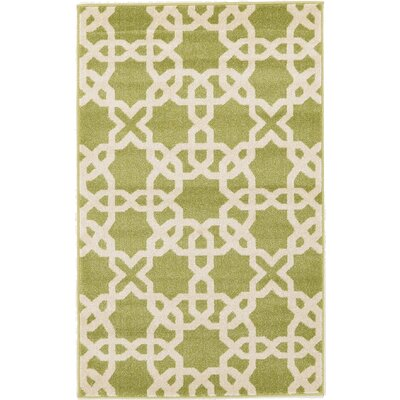 Moore Green Area Rug Rug Size: Rectangle 33 x 53