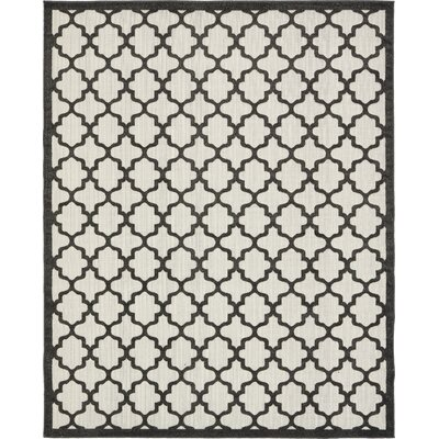 Agapius Black Indoor/Outdoor Area Rug Rug Size: Rectangle 8 x 10