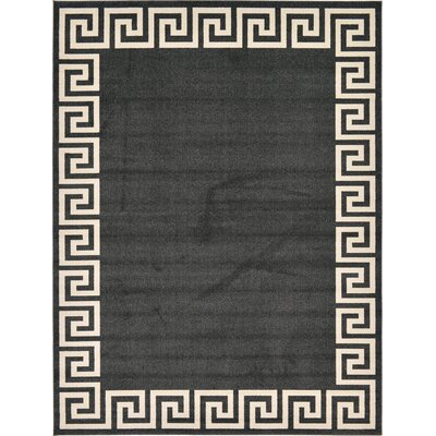 Cendrillon Charcoal Area Rug Rug Size: Rectangle 9 x 12