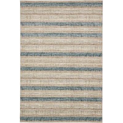 Brayden Beige/Blue Area Rug Rug Size: 7 x 10