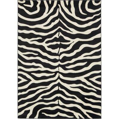 Leif Black Area Rug Rug Size: Rectangle 7 x 10