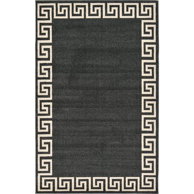 Cendrillon Charcoal Area Rug Rug Size: Rectangle 5 x 8