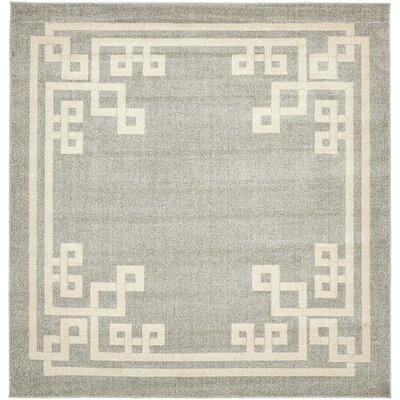 Ellery Gray Area Rug Rug Size: Square 8