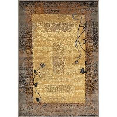 Apex Beige Area Rug Rug Size: Rectangle 4 x 6