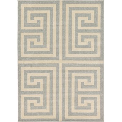 Ellery Geometric Gray Area Rug Rug Size: 7 x 10