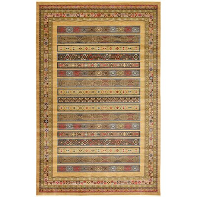 Foret Noire Tan Area Rug Rug Size: 10'6