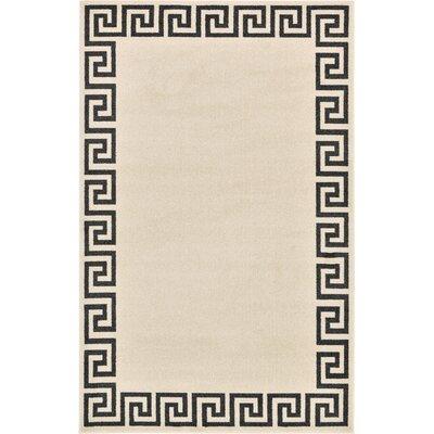 Doleman Beige/Black Area Rug Rug Size: 5 x 8