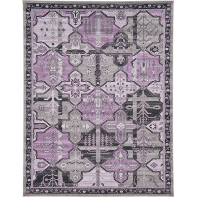 Irma Traditional Purple Area Rug Rug Size: 9 x 12