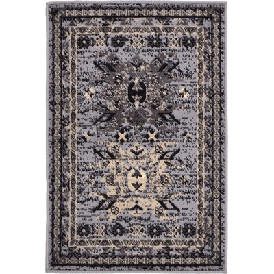 Valley Gray Area Rug Rug Size: 22 x 3