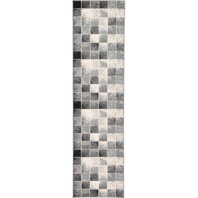 Jaina Light Gray Area Rug Rug Size: Runner 27 x 10