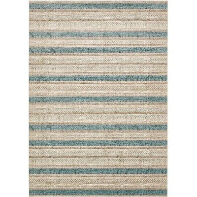 Brayden Beige/Blue Area Rug Rug Size: Rectangle 8 x 112
