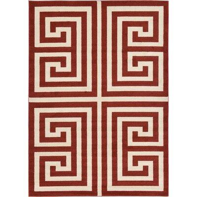 Cendrillon Geometric Terracotta Area Rug Rug Size: 7 x 10