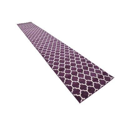 Moore Purple Area Rug Rug Size: Runner 27 x 165