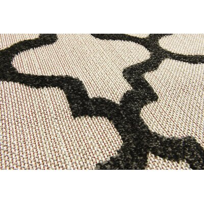 Agapius Black Indoor/Outdoor Area Rug Rug Size: 9 x 12