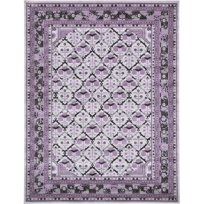 Lisbon Light Gray Area Rug Rug Size: Rectangle 9 x 12