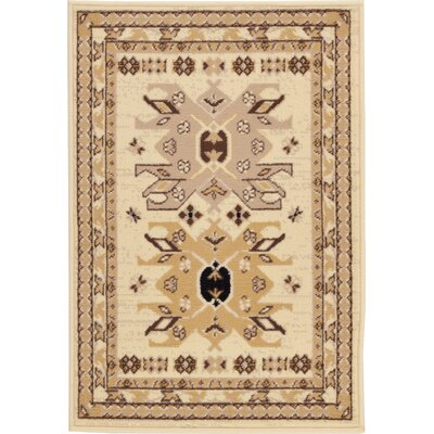 Valley Ivory/Beige Area Rug Rug Size: Rectangle 22 x 3