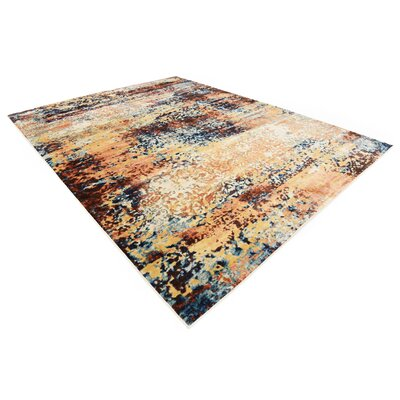Jani Beige/Brown Abstract Area Rug Rug Size: 9 x 12