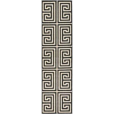 Gedrie Black Area Rug Rug Size: Runner 27 x 10