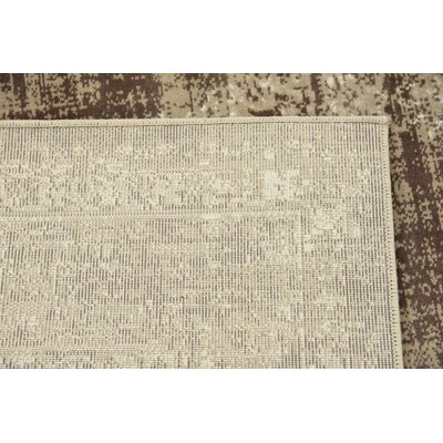 Miara Dark Beige Area Rug Rug Size: 5 x 8