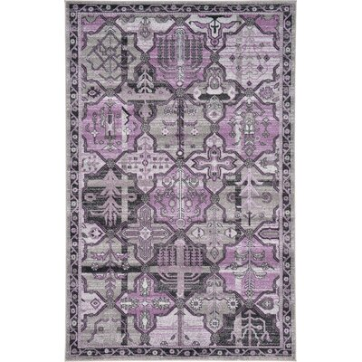 Irma Traditional Purple Area Rug Rug Size: 5 x 8